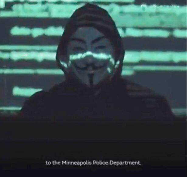 اعلام جنگ انانیمس به پلیس مینیاپولیس